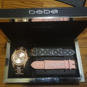 Bebe diamond watch set